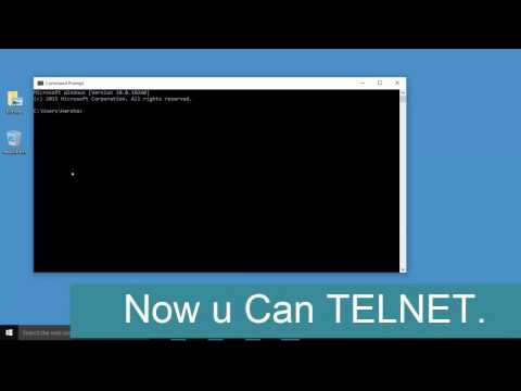 Install and Enable Telnet in Windows 10,8.1 – Use The Telnet Client Utility