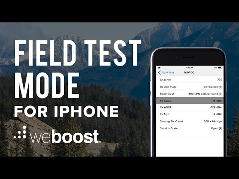 Field Test Mode For iPhone (iOS 11 Update) | weBoost
