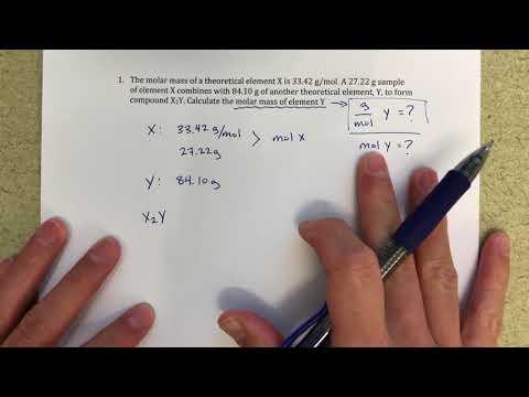 Determining Molar Mass of Unknown Using mol:mol Ratios