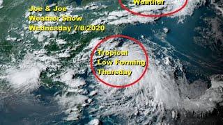 Joe & Joe Weather Show Tropical Low Developing Off Carolina Coast Severe Weather New England