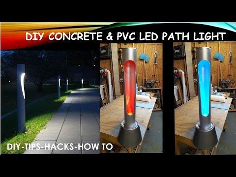 DIY Concrete PVC LED Path Light
