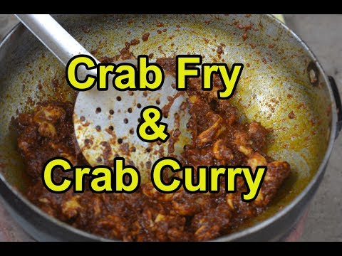 Crab Curry | Crab Fry | வயல்  நண்டு குழம்பு &  வறுவல் |  Fresh  Nandu Curry Recipe