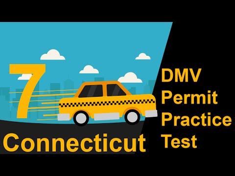 Connecticut DMV Permit Practice Test 7  - 2018
