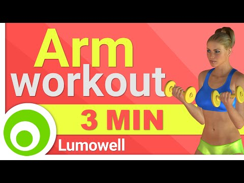 3 Minute Arm Workout: How to get Slim and Toned Arms in 3 Minutes