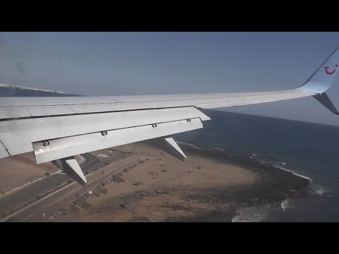 MY LANDING @  LANZAROTE FROM DONCASTER AIRPORT (UK)  (HD)