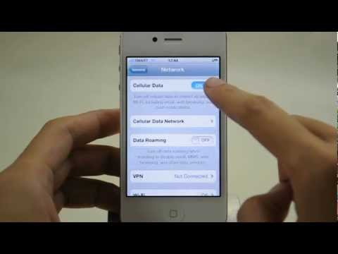 Apple iPhone 4s: Turn off / on data services