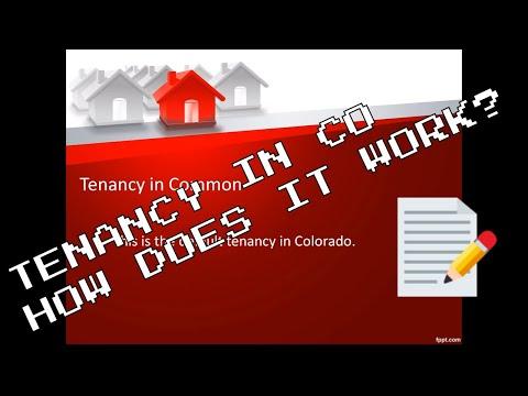 Joint tenancy vs Tenants in Common in Colorado