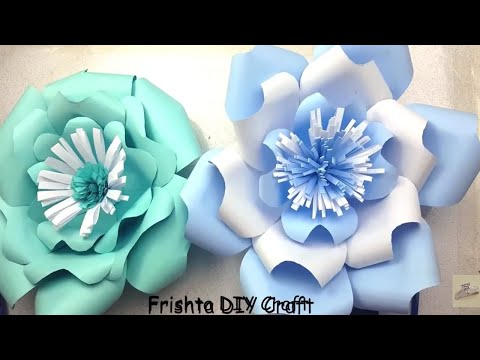 DIY Paper Flower Tutorial | My Wedding Backdrop Flowers | Giant Paper Flowers | Step By Step 2018