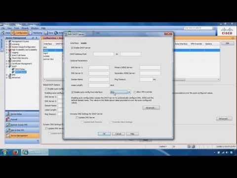 Configuring Cisco ASA ASDM - Static Routes, DHCP Server, NAT, Auto Update Server and SSH Access