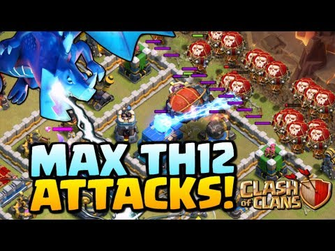 MAX TH12 ATTACKS - Clash of Clans Town Hall 12 Update - Electro Dragons, Lavaloon and Falcon!