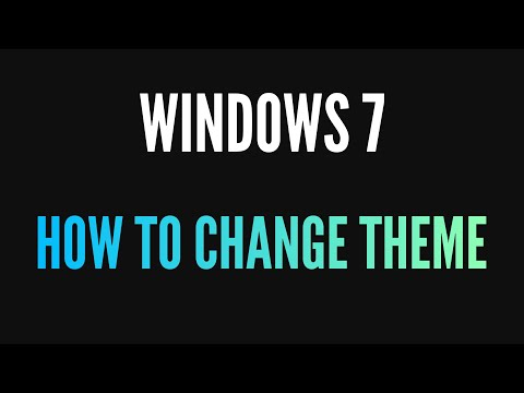 How to change your colour scheme in Windows 7