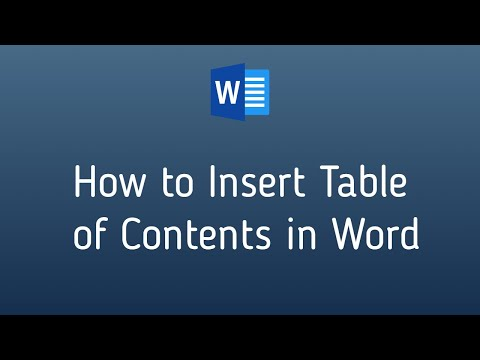 Create Table of Content (ToC) with Automatic Page or Header Update [Microsoft Word]