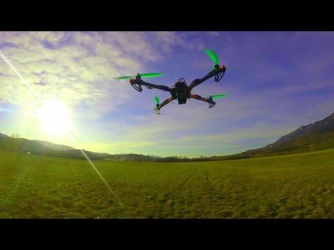 DIY Quadcopter and Flight Controller | First Flight