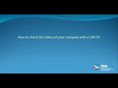 How to check the status of your company with a UIIA Equipment Provider (EP)