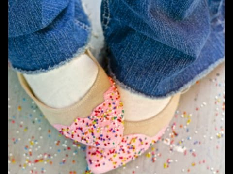 DIY Shoes, make fun Birthday shoes with faux frosting and sprinkles!