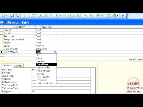 Access 2003: Setting Default Values in Tables