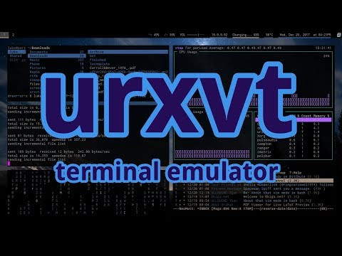 URXVT is the Best Terminal. (And some configuration notes)