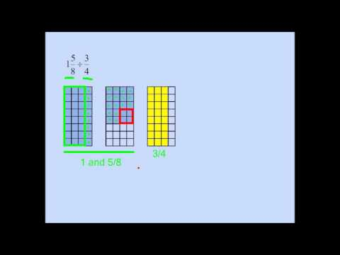 Dividing an Imporper Fraction by a Proper Fraction Visually