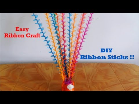 How to make Decorative Ribbon Sticks easily ~ How to Decorate ~ DIY ~ Room Decor ~ Tutorial/Steps