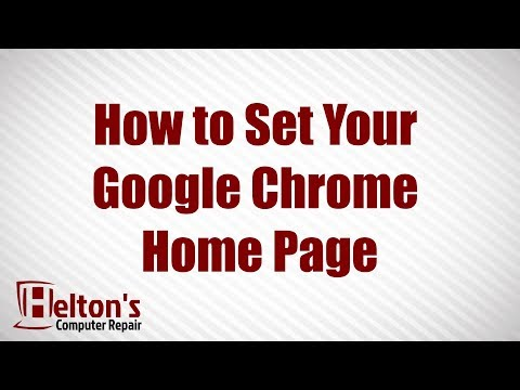 How to Set Your Google Chrome Home Page
