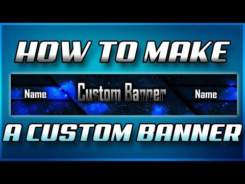 How to make a youtube banner on pixlr! Channel art tutorial 2017