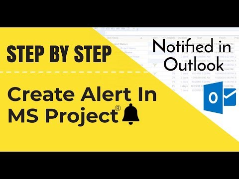Create alerts in MS Project - notified in Outlook