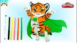 Super Hero Tiger -Play Doh for kids