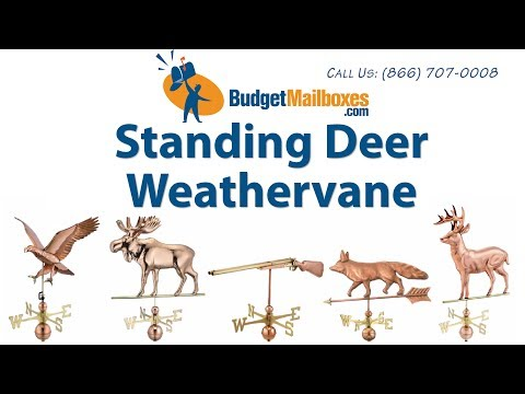 BudgetMailboxes.com  | Good Directions 638P Standing Deer Weathervane - Polished Copper