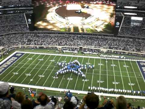 An opening ceremony at the new Cowboys Stadium 9-20-09 (Star at midfield)
