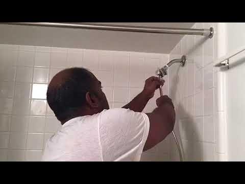 Costco waterpik power Spray+  Shower Head installation