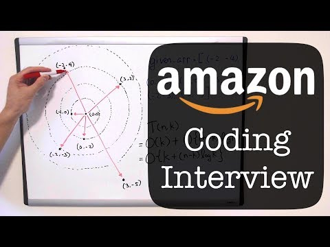 Amazon Coding Interview Question - K Closest Points to the Origin