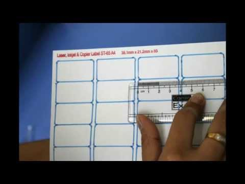 How to adjust settings of barcode labels if it is not fit in your sheet