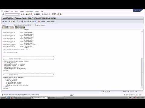 SAP ABAP BDC Upload Using Call Transaction