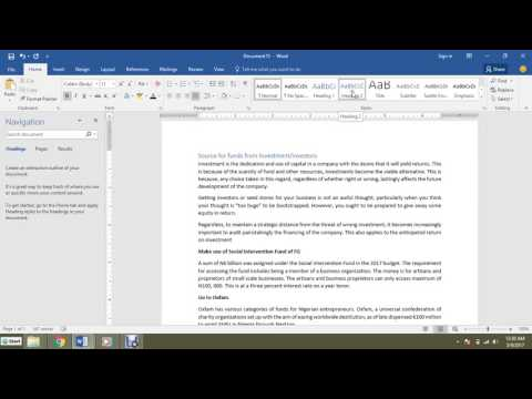 How To Insert Subheadings in Blog post Using Ms. Word