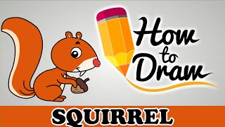 How To Draw A Squirrel Easy Step By Step Cartoon Art Drawing Lesson T