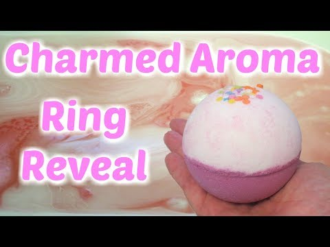 Charmed Aroma Ring Reveal - Birthday Cake Bath Bomb!