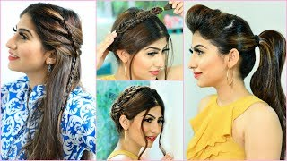 30 Secs SUMMER HAIRSTYLES for Teenage/Office/College Girls | #Anaysa