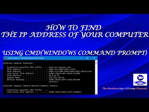 How to find the ip address of your computer using cmd(command prompt)