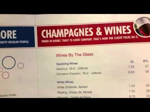 Carnival Cruise Line Bar Drink Menu Prices