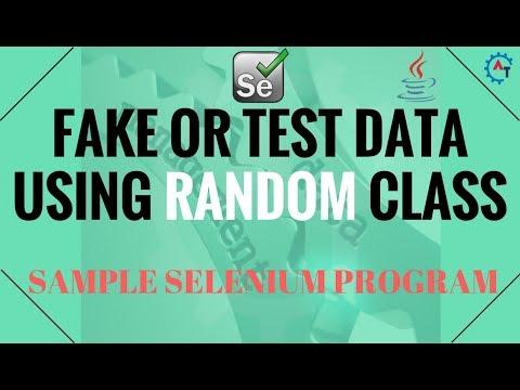 4. Sample Selenium Program Using RANDOM Class in Java
