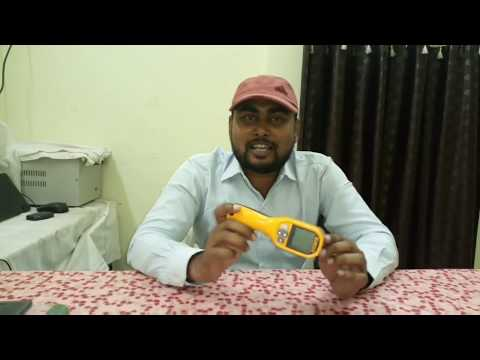 Measure high and low temperature of any object without touching it this IR thermometer