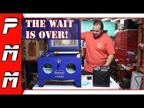 I've been wanting one of these for years! Eastwood Benchtop Blast Cabinet Review | Is It Worth It?