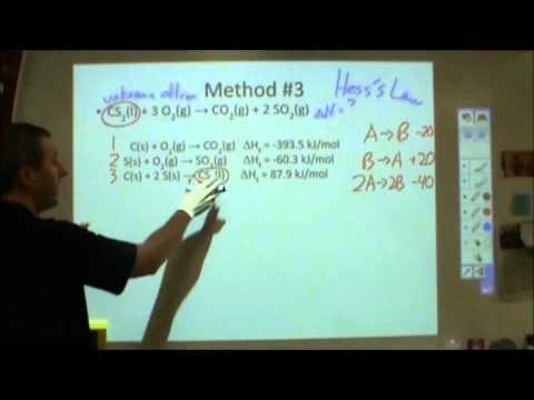 Enthalpy - the four common ways to calculate delta H