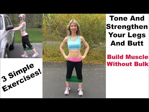 Tone Legs, Thighs, And Butt FAST | Easy Band Workout Exercises | RESULTS!!