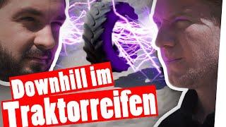 X-Treme Downhill – Stürz dich den Berg im Traktorreifen runter    Das schaffst du nie!