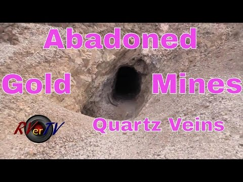 RV Travel...Abandoned Gold Mines...Quartz Veins....Mine Shafts....Quartzsite AZ....RVerTV