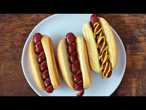 How To Spiral Cut A Hot Dog