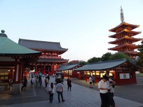 Tokyo Asakusa Shrine, Senso-ji Temple, Tokyo Skytree, Pagoda, Kaminarimon, Hozomon, Nakamise-dori