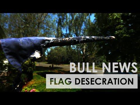 Flag Desecration In Vancouver