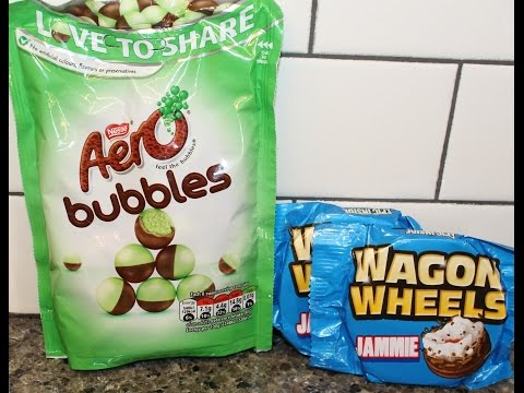 England Eatables#11 Nestle Aero Bubbles & Wagon Wheels: Jammie Review